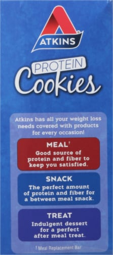 Atkins Peanut Butter Protein Snack Cookies Perspective: left