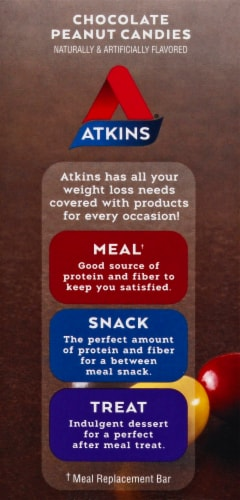 Atkins Endulge Chocolate Peanut Candy Packs Perspective: left