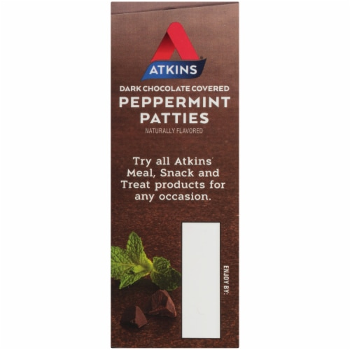 Atkins Endulge Dark Chocolate Peppermint Patty Perspective: left