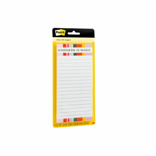 Post-it® Printed Note Pad with Magnet - 50 Sheets Perspective: left