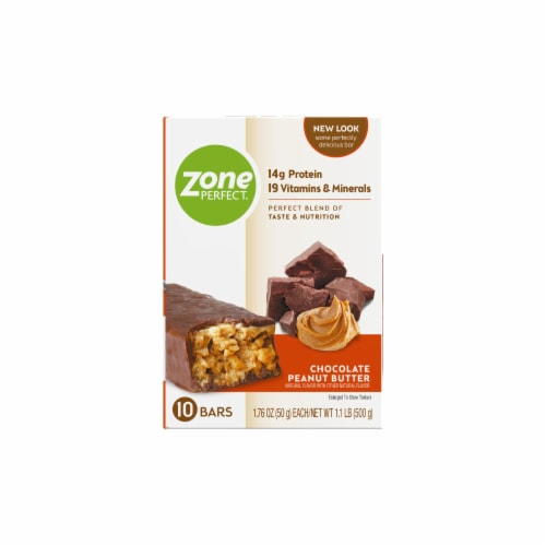 ZonePerfect Chocolate Peanut Butter Nutrition Bars Perspective: left