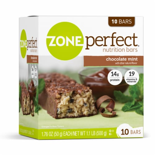 ZonePerfect Chocolate Mint Nutrition Bars Perspective: left
