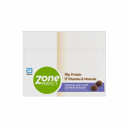 ZonePerfect Chocolate Chip Cookie Dough Nutrition Bars Perspective: left