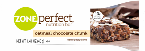 ZonePerfect Oatmeal Chocolate Chunk Nutrition Bars Perspective: left