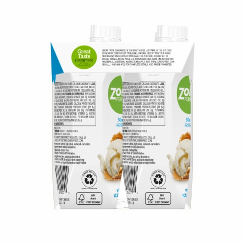 ZonePerfect Carb Wise Vanilla Ice Cream Protein Shakes Perspective: left