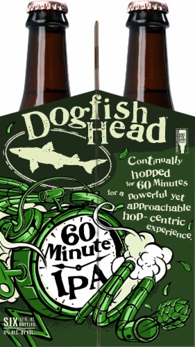 Dogfish Head 60 Minute IPA Beer Perspective: left
