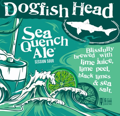 Dogfish Head Session Sour Sea Quench Ale Perspective: left