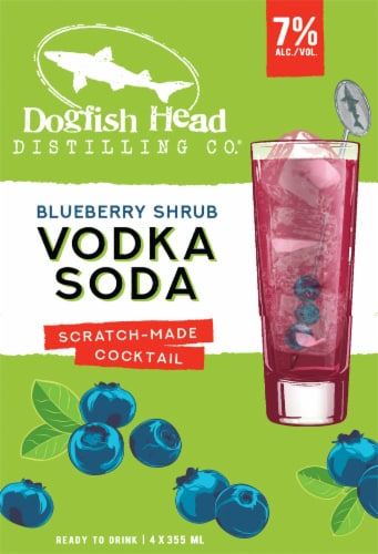 Dogfish Head Blueberry Shrub Vodka Soda Scratch-Made Cocktail Perspective: left