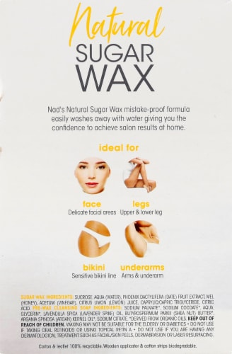 Nad's 100% Natural Sugar Wax Perspective: left