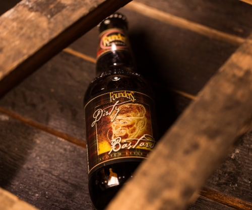 Founders Brewing Dirty Bastard Scotch Ale Perspective: left