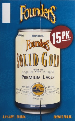 Founders Brewing Solid Gold Premium Lager Perspective: left