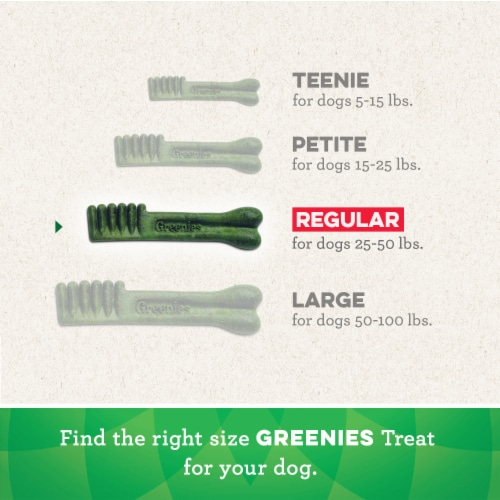 Greenies Original Regular Dog Dental Treats Perspective: left