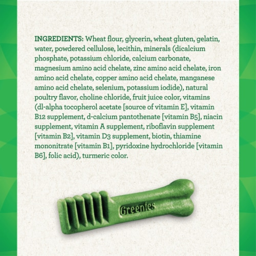 Greenies Original Regular Size Dog Dental Treats 6 Count Perspective: left
