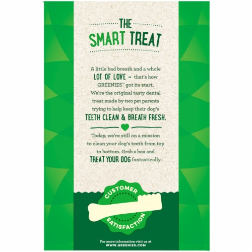 Greenies Grain Free Regular Dog Dental Treats Value Pack Perspective: left