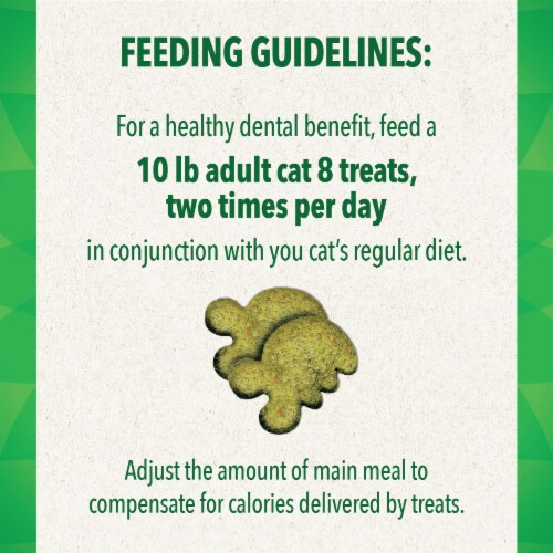 Feline Greenies Savory Salmon Flavor Dental Treats for Cats Perspective: left