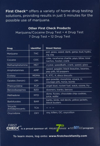First Check Marijuana Home Drug Test Perspective: left