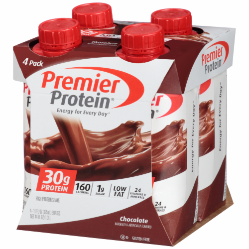 Premier Protein Chocolate Shakes Perspective: left