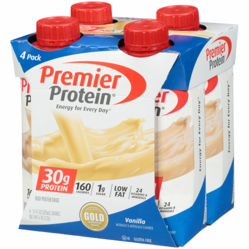 Premier Protein Vanilla High Protein Shakes Perspective: left