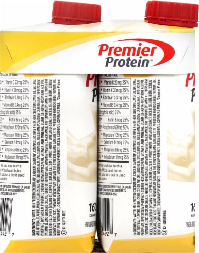 Premier Protein Bananas & Cream Shakes Perspective: left