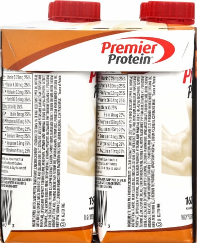 Premier Protein Caramel High Protein Shakes Perspective: left