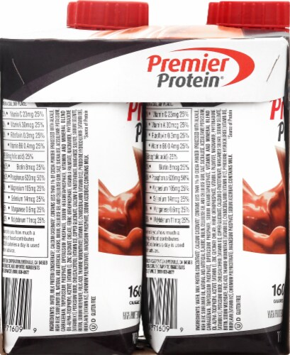 Premier Protein Cookies & Cream High Protein Shakes Perspective: left