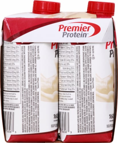 Premier Protein Cinnamon Roll Protein Shakes Perspective: left