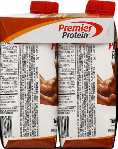 Premier Protein Chocolate Peanut Butter Protein Shakes Perspective: left