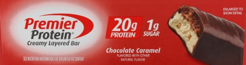 Premier Protein Chocolate Caramel Bar Perspective: left