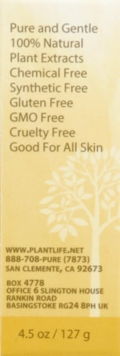 Plantlife Apricot Oatmeal Skin Bar Soap for Face and Body Perspective: left