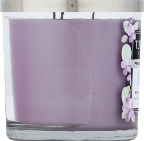 Tuscany Candle Lilac Petal Jar Candle Perspective: left