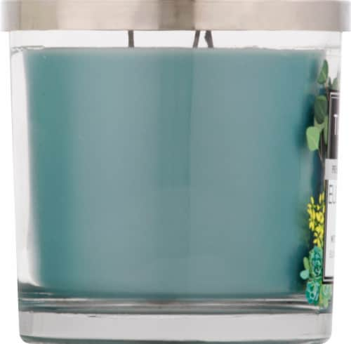 Tuscany Candle Eucalyptus Mint Scented Jar Candle - Green Perspective: left