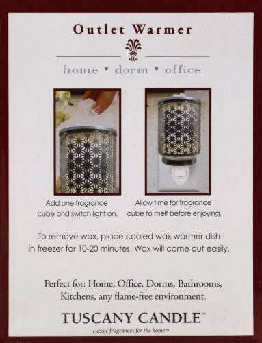 Tuscany Galvanized Metal Outlet Wax Warmer Perspective: left
