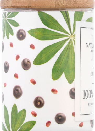 Nature's Own Acai Berries Soy Wax Natural Candle Perspective: left