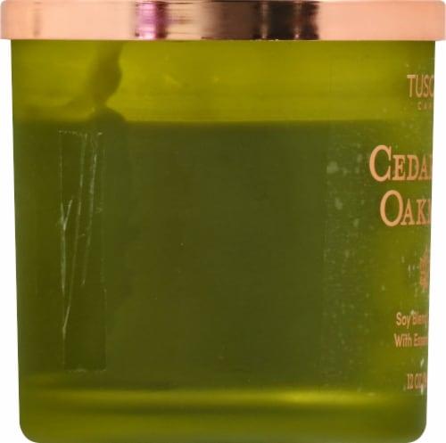 Tuscany Candle Cedar & Oakmoss Jar Candle - Green Perspective: left