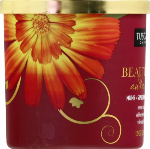 Tuscany Candle Beautiful Autumn Jar Candle - Red Perspective: left