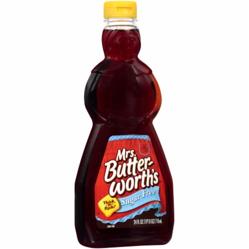 Mrs. Butterworth's Thick-n-Rich Sugar Free Syrup Perspective: left