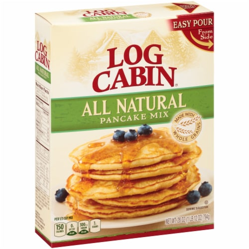 Log Cabin All Natural Pancake Mix Perspective: left