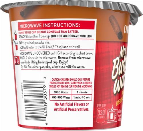 Mrs. Butterworth's Cinnamon Roll Pancake Breakfast Cup Perspective: left