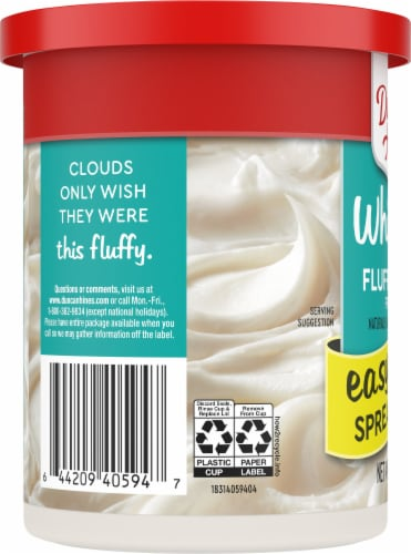 Duncan Hines Whipped Fluffy White Frosting Perspective: left