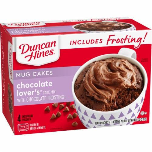 Duncan Hines Chocolate Lover's Cake with Chocolate Frosting Mug Mix Perspective: left