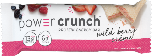 Power Crunch Wild Berry Creme Protein Energy Bars Perspective: left