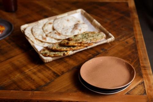 FORTESSA Sandia Adobe Dinner Plate Perspective: left