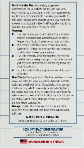 Real Health  Prostate Formula with Saw Palmetto Perspective: left