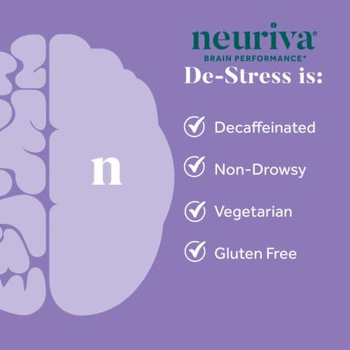Neuriva De-Stress Brain Performance Supplement Vegetarian Capsules 30 Count Perspective: left