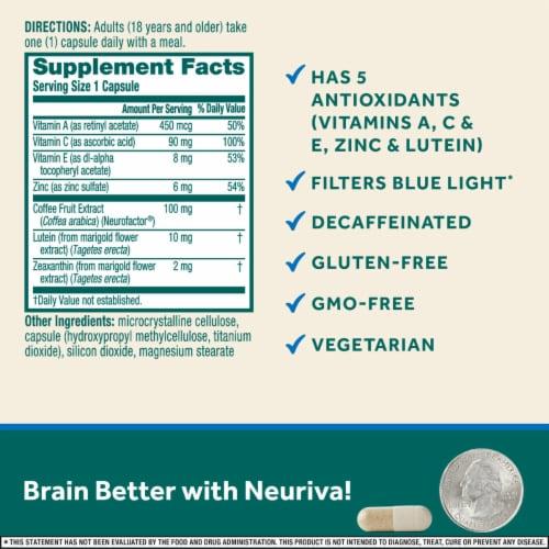 Neuriva Brain Performance Brain + Eye Capsules Perspective: left