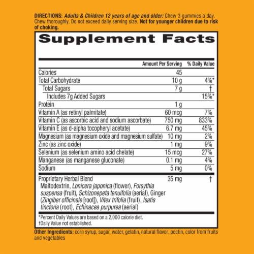 Airborne Original Orange Immune Support Supplement Gummies Perspective: left