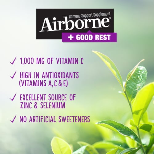 Airborne Good Rest Very Berry Immune Support Powder Packets 16 Count Perspective: left