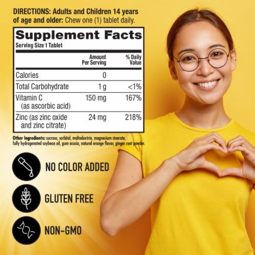 Airborne Orange Zinc + Vitamin C Immune Support Chewable Tablets Perspective: left