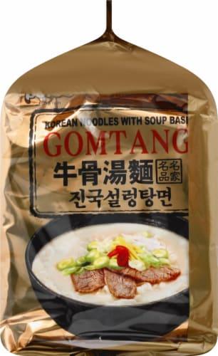 Paldo Gomtang Korean Noodles With Soup Base Perspective: left