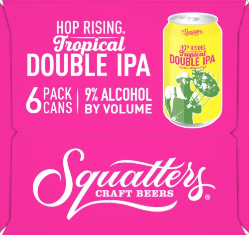Squatters Hop Rising Tropical Double IPA Perspective: left